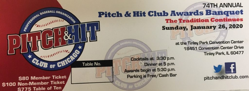 Pitch and Hit Club Awards Banquet 2020